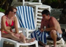 Couple discussing Island real estate