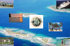 Arial view of Roatan
