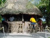 Grass hut on Roatan beach